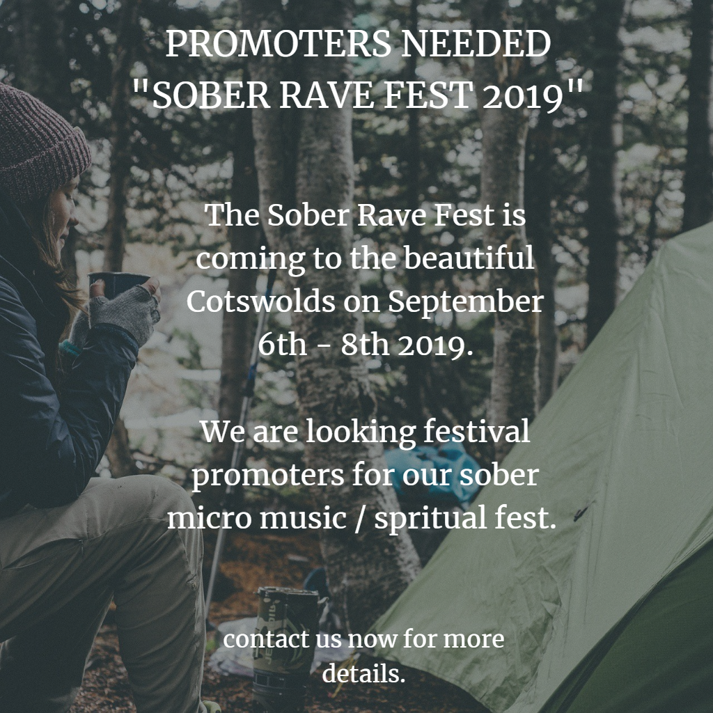Sober Rave Fest Promoters Wanted